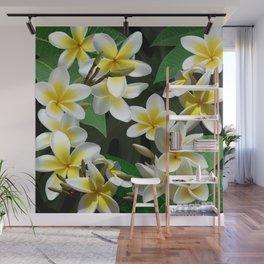 Plumeria Flowers Wall Mural