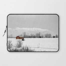Mt Timpanogos with Red Barn Laptop Sleeve