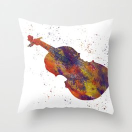 Fiddle in watercolor Throw Pillow