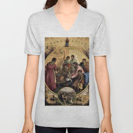 African American Masterpiece 'Civil War - Emancipation Past and the Future' Portrait by Thomas Nast Unisex V-Neck