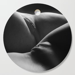 0876s-HB Explicit B&W Art Nude Two Women Intimate Close Up Cutting Board