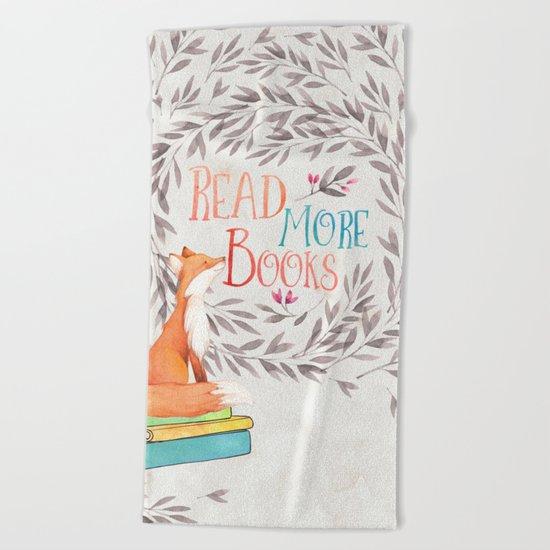 Read More Books - Fox Beach Towel