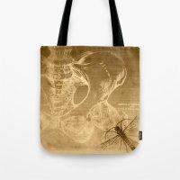 anatomy Tote Bags featuring Anatomy by ViviRajski