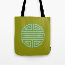 Shou Longevity In Green And Turquoise Tote Bag