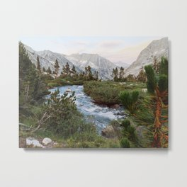 Alpine River and Mountains Metal Print