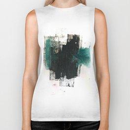 Empire: a minimal, abstract piece in teal and midnight blue by Alyssa Hamilton Art Biker Tank