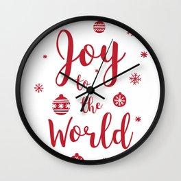 Joy to the World Typography Wall Clock