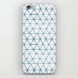 Indigo Geo Triangle Pattern iPhone Skin