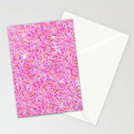 Pink Watercolor Flowers Stationery Cards