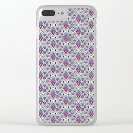 Sacred geometry inspired pattern Clear iPhone Case