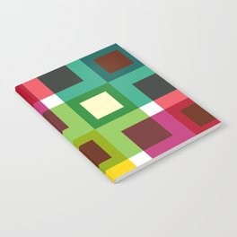 Geometric Pattern 11 (Colorful squares) Notebook