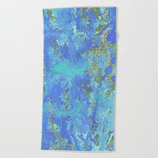 Water Flow On The Earth Beach Towel