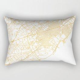 BARCELONA SPAIN CITY STREET MAP ART Rectangular Pillow