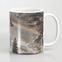 trout Mugs featuring Rainbow Trout by Mitch Meseke
