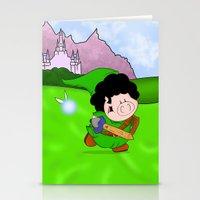 zelda Stationery Cards featuring Zelda! by Afro Pig