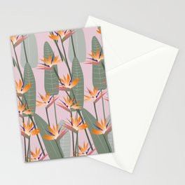 Bird of Paradise - pink Stationery Cards