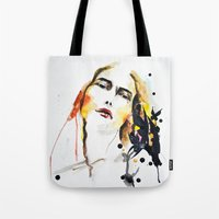grateful dead Tote Bags featuring Grateful by Mitra Art