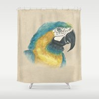 parrot Shower Curtains featuring Parrot by Marta Bocos