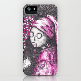 Girl with a pearl earring in 2016 - Anxiety and Gretel iPhone Case