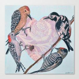 Woodpecker Heart Canvas Print