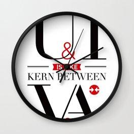 Kerning Love Wall Clock