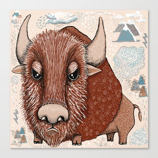 American Buffalo Bison Southwest Southwestern Canvas Print