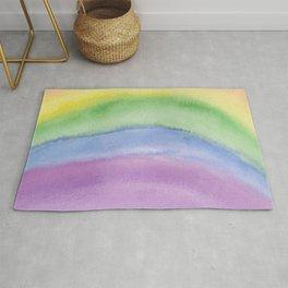 Discreet Pride Rainbow Colors Rug