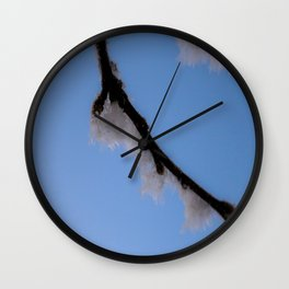 January Snow Frost Wall Clock