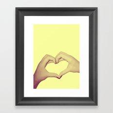 Heart Hand Framed Art Print