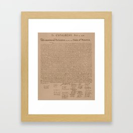 The Declaration of Independence Framed Art Print