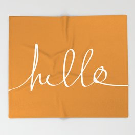 Hello, Pumpkin Throw Blanket