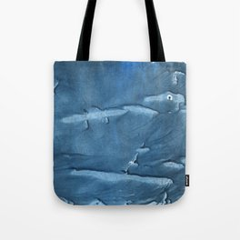 Steel blue blurred wash drawing design Tote Bag