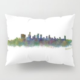 Beverly Hills City in LA City Skyline HQ v2 Pillow Sham