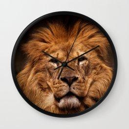 Lion Portrait Wall Clock