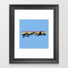 Off Piste Ski Framed Art Print