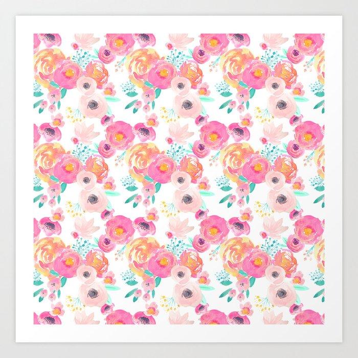 Indy Bloom Design Blush White Florals Kunstdrucke