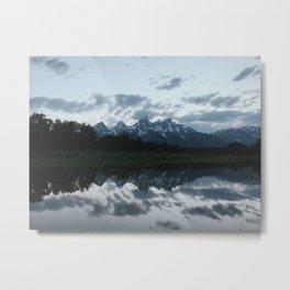 Mountain Reflection, Snake River, Grand Teton National Park, Wyoming Metal Print