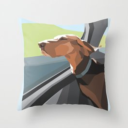 Hound in the Sunshine Throw Pillow
