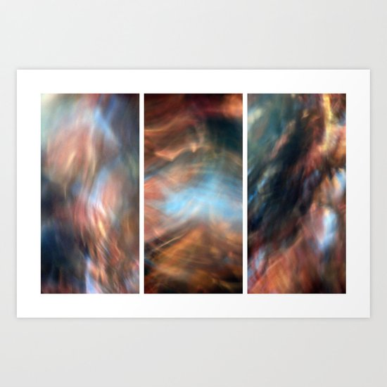 Pull Me Under - Triptych Art Print