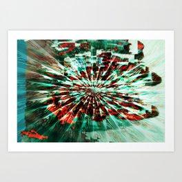 SKELETON FINGERS Art Print