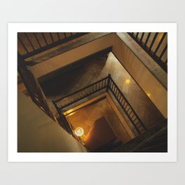 Kathmandu City - Architecture 01 - Stairs Art Print