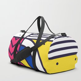 Festive Background in Neo Memphis Style Colorful Decorative pattern Duffle Bag