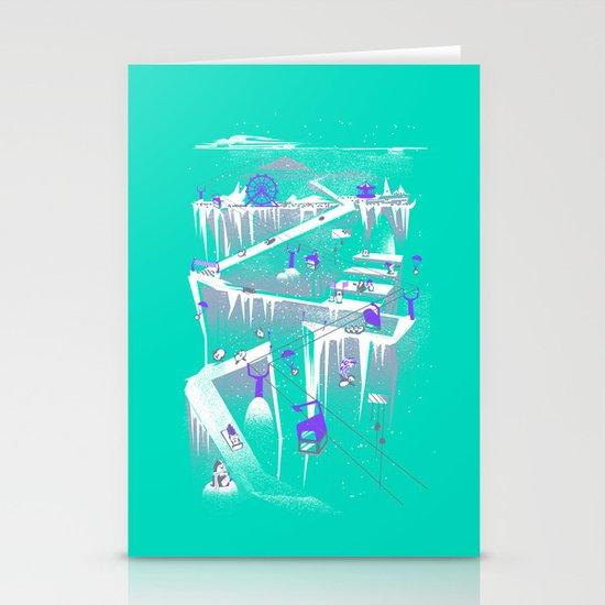 Penguins (flat, palette swap) Stationery Cards