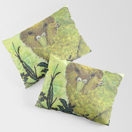 kakapo watercolor Pillow Sham
