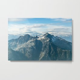Alpha & Serratus Mountains, Squamish, BC Metal Print