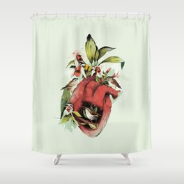 Heart Of Birds Shower Curtain