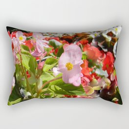 Bouquet of Begonias.... Rectangular Pillow