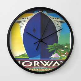 Vintage poster - Norway Wall Clock