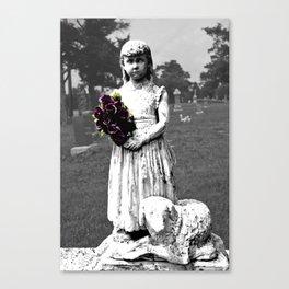 Girl Statue 2 Canvas Print
