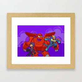 Baymax, Hiro & Fred Framed Art Print